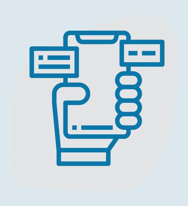 Stiliserad bild som beskriver applikationsutveckling